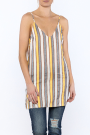 Honey Punch Yellow Stripe Tunic - Product Mini Image