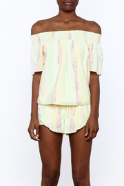 Honey Punch Yellow Stripe Print Top - Side cropped