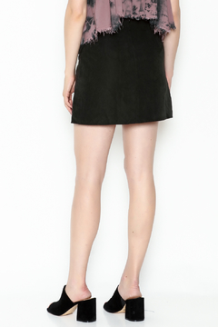 Honey Punch Suede Laceup Miniskirt - Alternate List Image