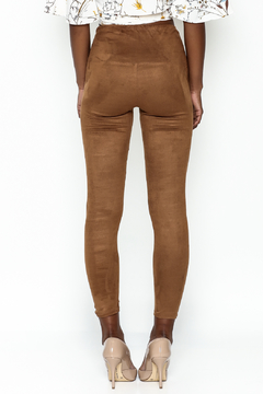 Honey Punch Suede Leggings - Alternate List Image