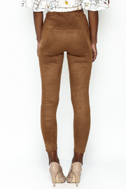 Honey Punch Suede Leggings - Back cropped