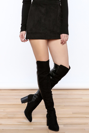 Shoptiques Product: Faux Suede Mini Skirt