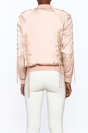 Honey Punch Pink Bomber Jacket - Back cropped