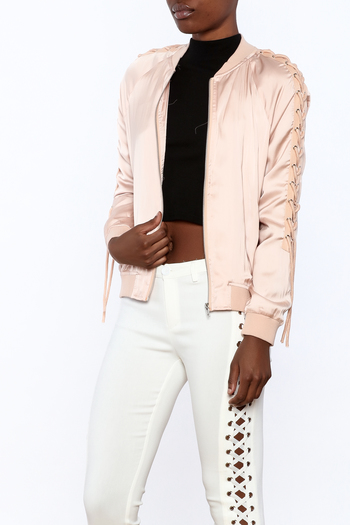 Shoptiques Product: Pink Bomber Jacket - main