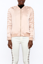 Shoptiques Product: Pink Bomber Jacket - Side cropped