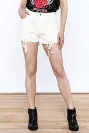 Honey Punch Tie Up Shorts - Front cropped