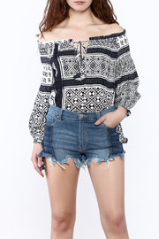 Honey Punch Tribal Off-Shoulder Top - Product Mini Image