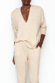 Honey Punch V Neck Soft Hoodie - Front cropped