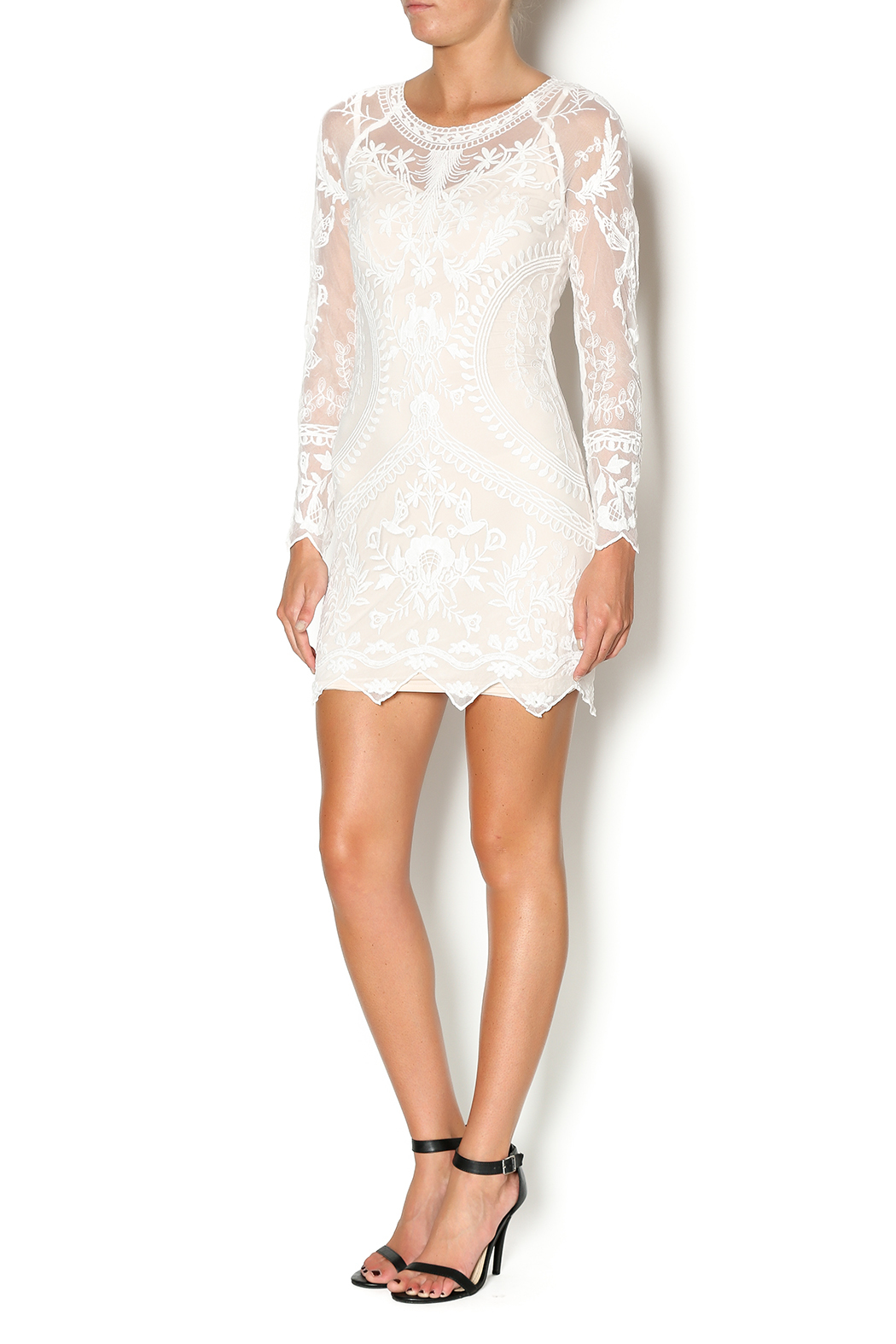 Honey Punch White Lace Dress from Los Angeles by Rich ...