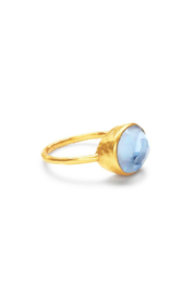 The Birds Nest HONEY STACKING RING IN IRIDESCENT CHALCEDONY BLLUE - Product Mini Image