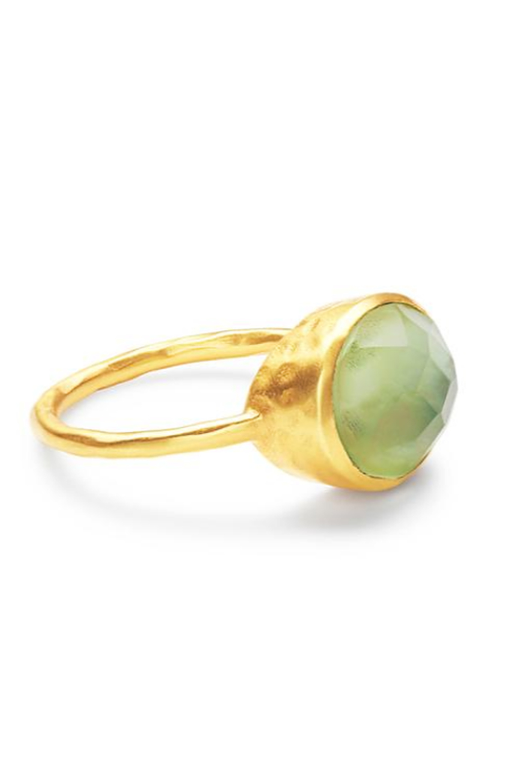 The Birds Nest HONEY STACKING RING IN IRIDESCENT PERIDOT GREEN - Front Cropped Image