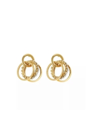Honey + Lo Spinning Circles Studs - Front cropped