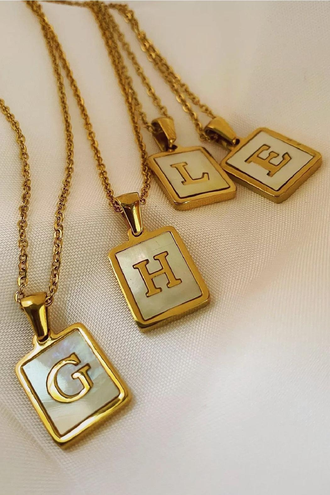Honey + Lo Pearla Initial Necklace - Main Image