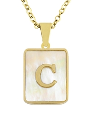 Honey + Lo Pearla Initial Necklace - Front full body