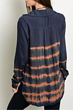 Shoptiques Product: Navy Rust Top