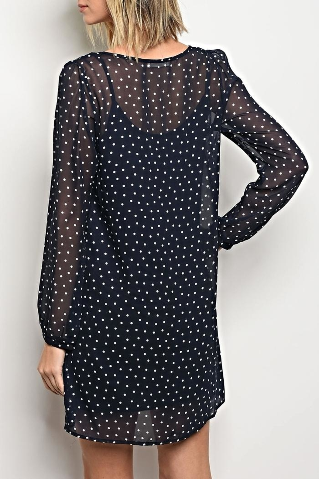 Honey Bella Poka Dot Dress - Front Full Image