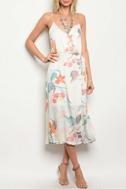 Honey Bella White Floral Dress - Product Mini Image