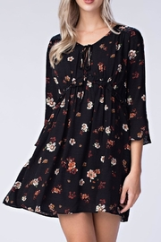 honey belle Black Floral Dress - Product Mini Image