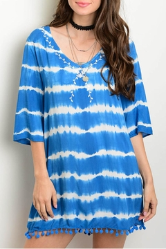 honey belle Blue Tie Dye Dress - Product List Image