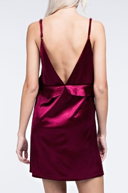 honey belle Burgundy Velvet Dress - Other