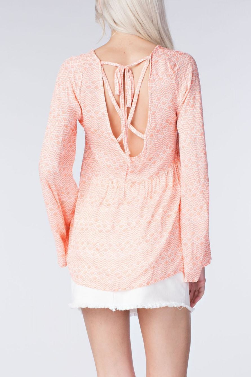 honey belle Coral Breeze Top - Front Full Image