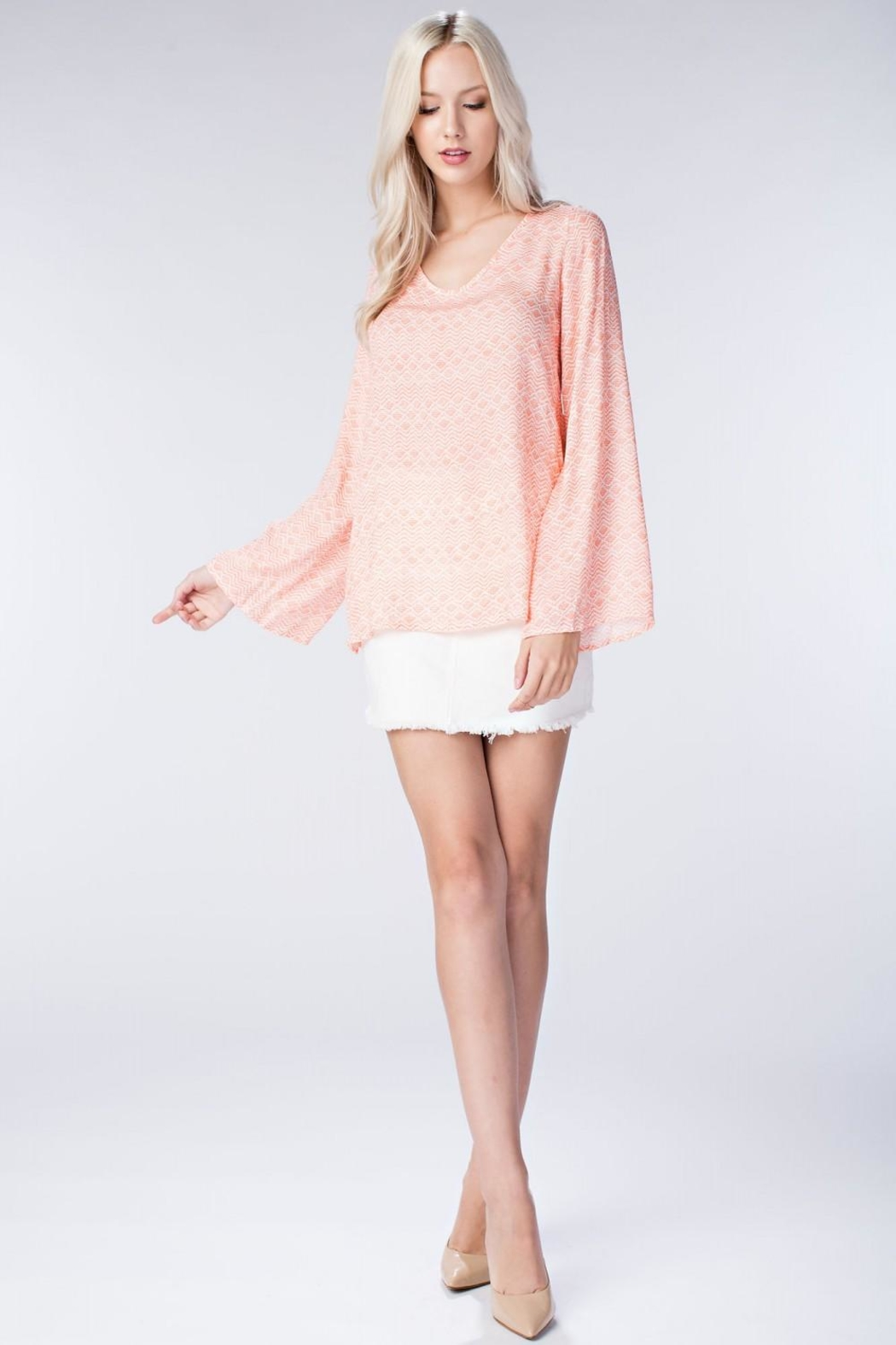 honey belle Coral Breeze Top - Back Cropped Image