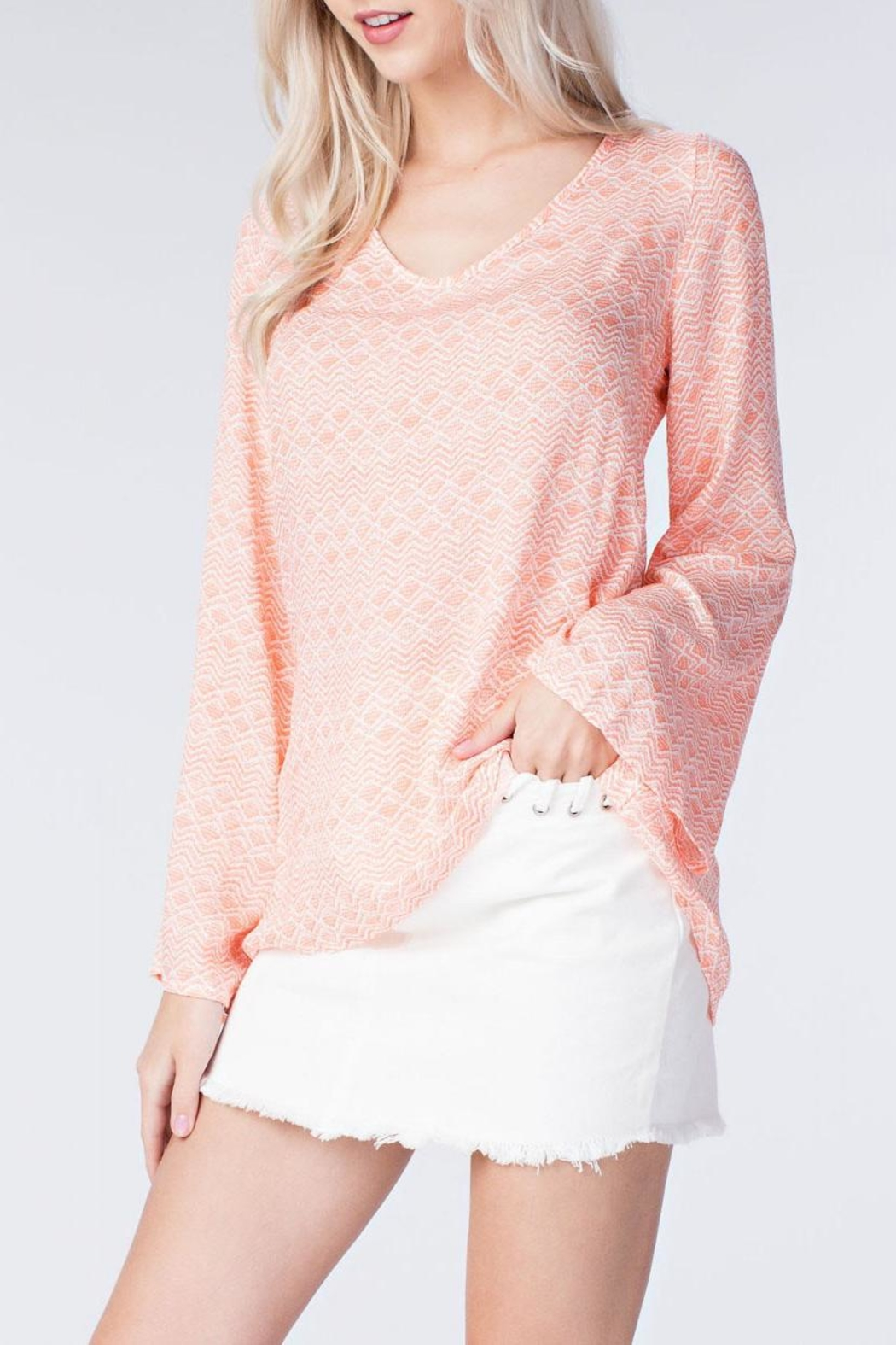honey belle Coral Breeze Top - Side Cropped Image