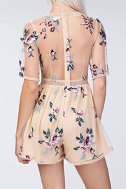 honey belle Embroidery Floral Romper - Front full body