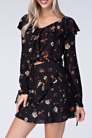 honey belle Floral Ruffle Top - Front full body