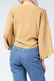 honey belle Mustard Tie Top - Front full body