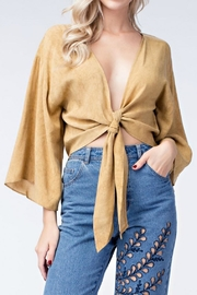 honey belle Mustard Tie Top - Side cropped