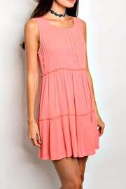 honey belle Ruffled Dress - Front cropped