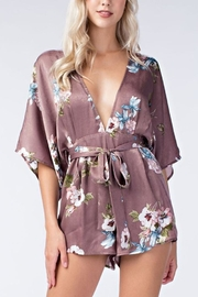 honey belle Satin Kimono Romper - Product Mini Image