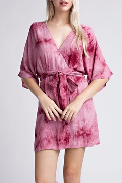 Shoptiques Product: Tie-Dye Wrap Dress