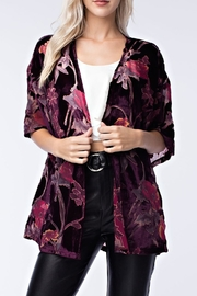 honey belle Velvet Floral Kimono - Product Mini Image