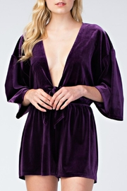 honey belle Velvet Plunge Romper - Product Mini Image