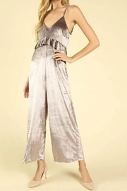 honey belle Velvet Ruffle Jumpsuit - Product Mini Image