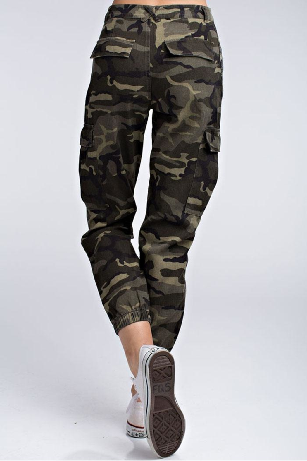 Honey Bunch Wild Camo Joggers - Front Full Image