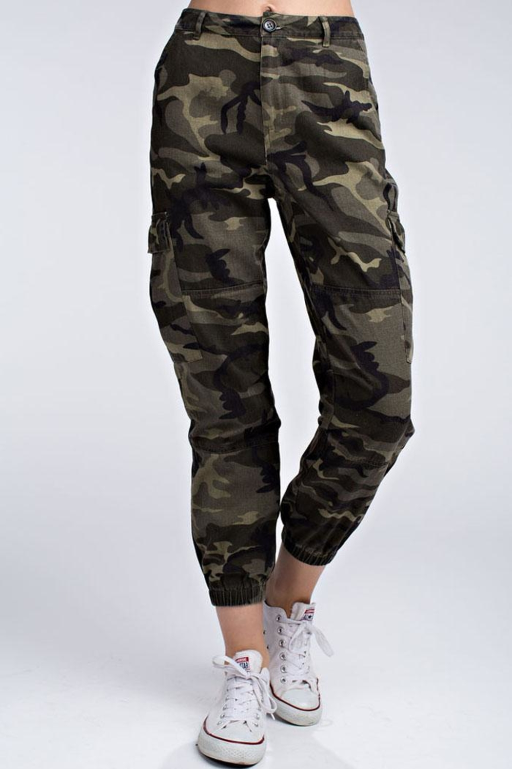 Honey Bunch Wild Camo Joggers - Front Cropped Image