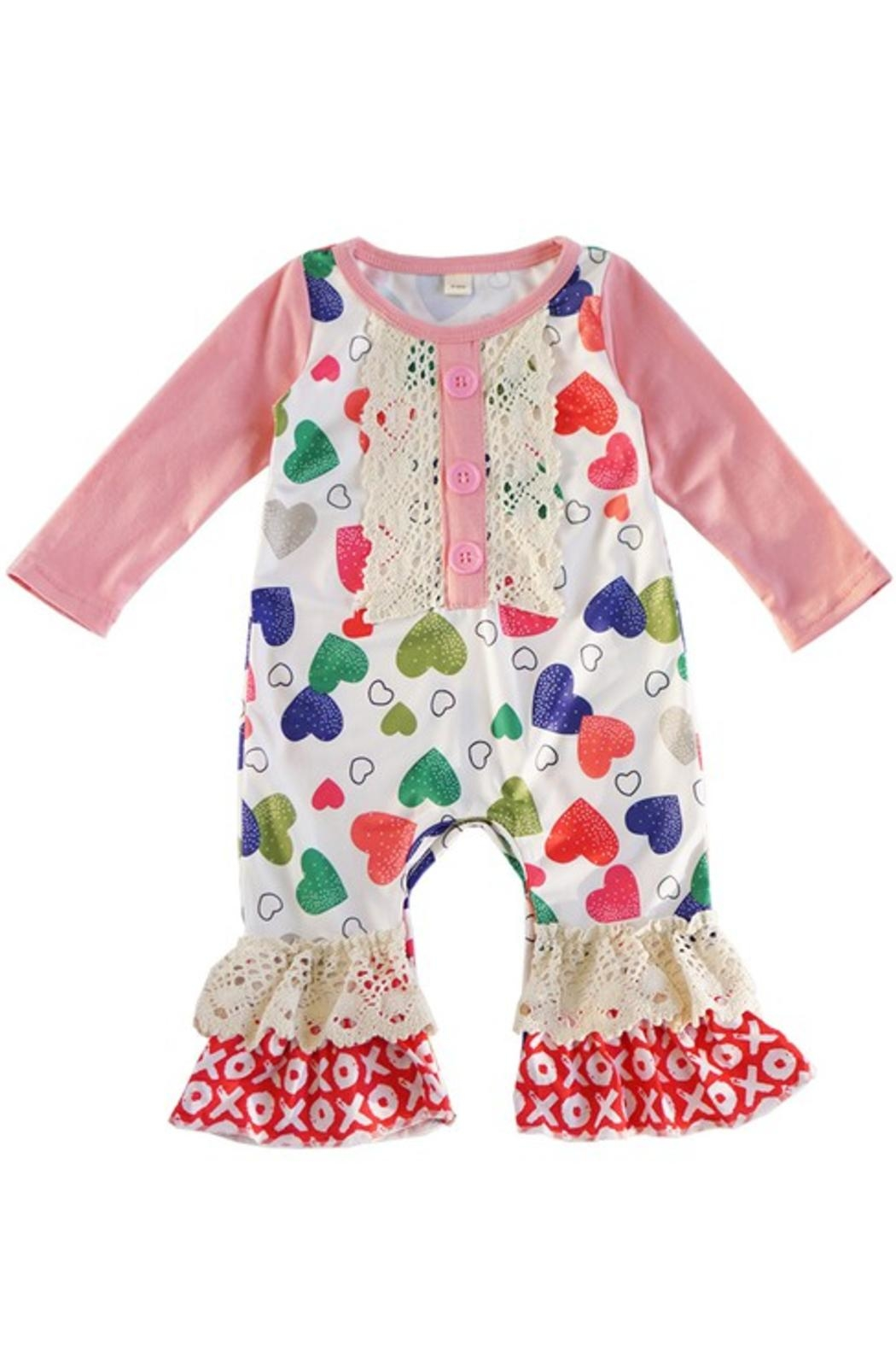 Honey Dew  Candy Heart Romper - Main Image