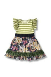Honey Dew  Girls Striped Floral - Product Mini Image
