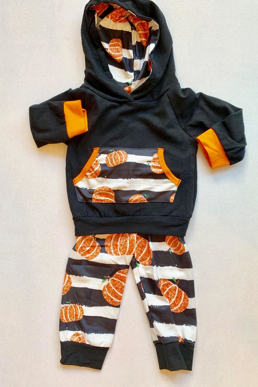 Honey Dew  Pumpkin Hoodie 2pc - Front Cropped Image