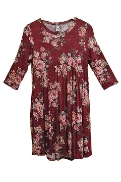 Honey Me Burgundy Floral Tunic - Product List Image
