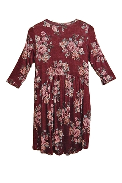 Honey Me Burgundy Floral Tunic - Alternate List Image