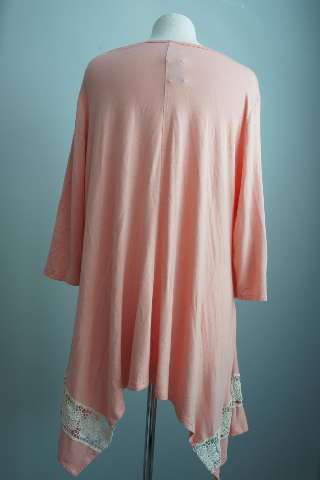 Honey Me Lace-Detail Asymmetrical Tunic - Side Cropped Image