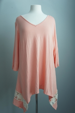 Honey Me Lace-Detail Asymmetrical Tunic - Product List Image