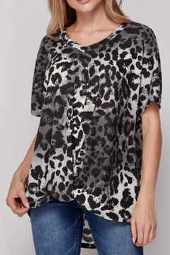 Honey Me Leopard Print Tunic Top - Product List Image