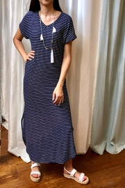 Honey Me Navy-Stripe Maxi Dress - Product Mini Image