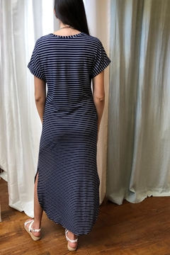 Honey Me Navy-Stripe Maxi Dress - Alternate List Image