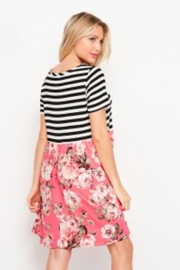 Elegance by Sarah Ruhs Stripe And Floral Dress - Front full body